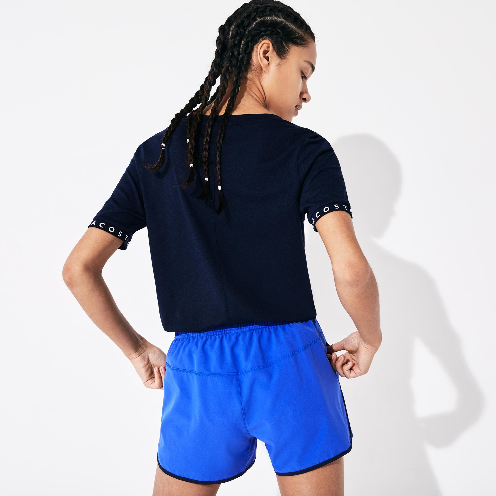 Lacoste Women's Sport Flowing Lettered Sleeve Tennis T-Shirt