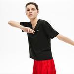 Lacoste Women's V-Neck Premium Cotton T-Shirt