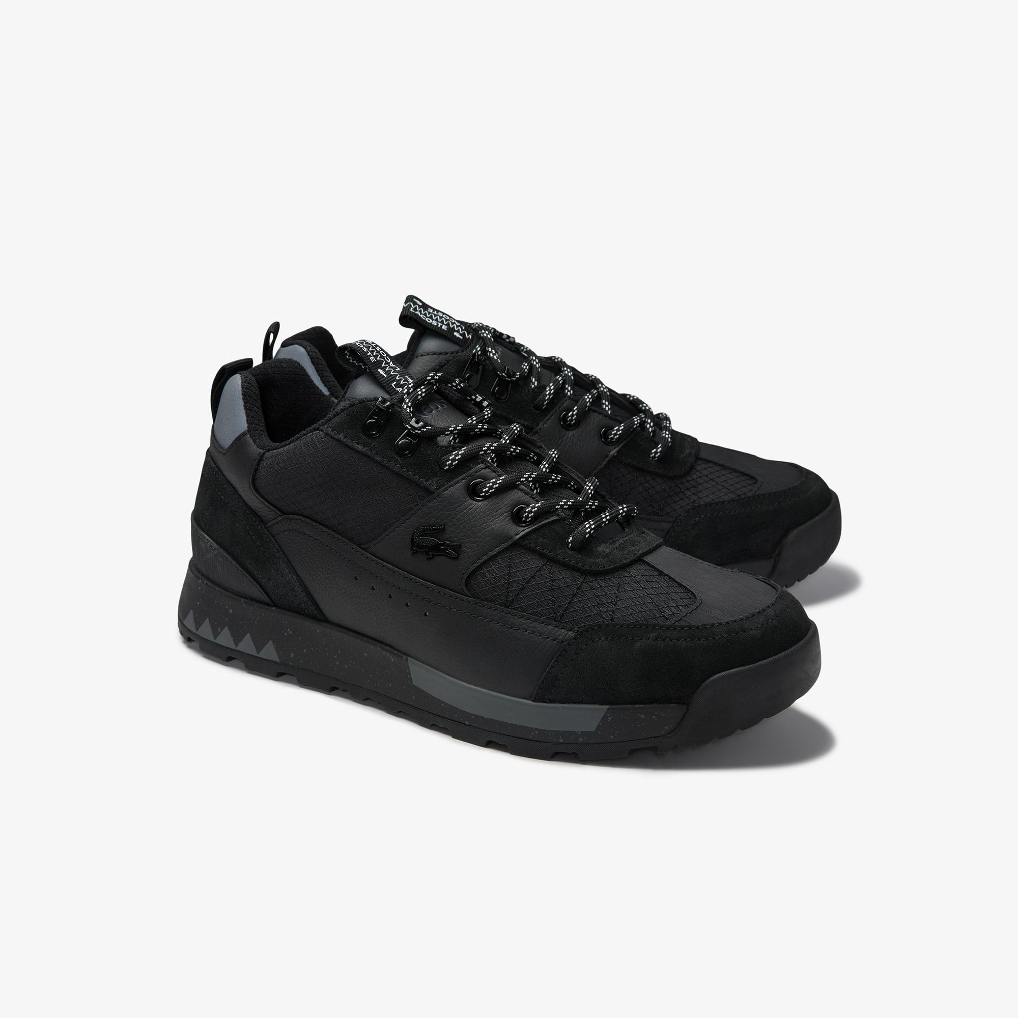 Lacoste Men's Urban Breaker Textile, Leather and Synthetic Sneakers