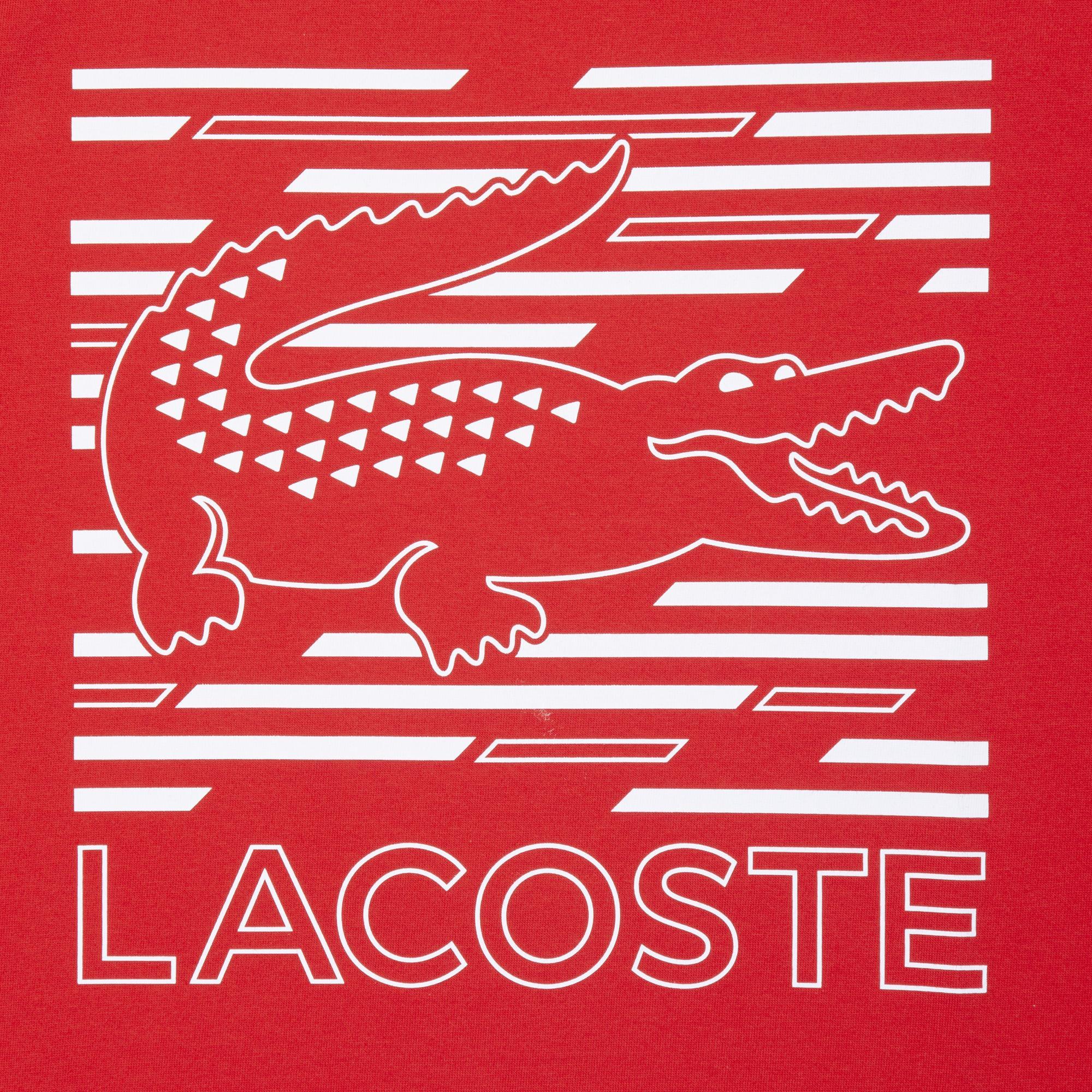Lacoste Men's Sport Crocodile Printed Breathable T-Shirt