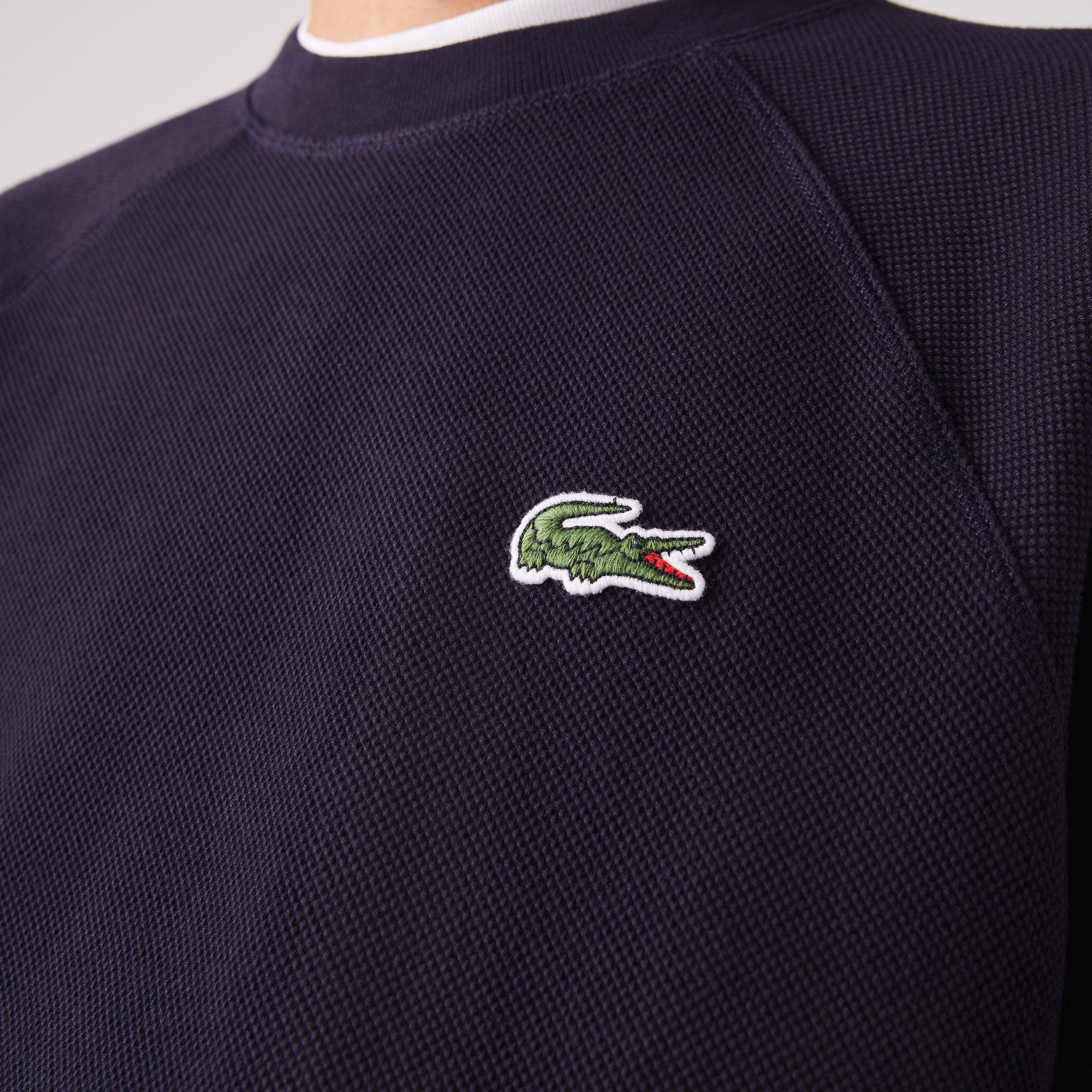 Lacoste Men's Organic Cotton Piqué Crew Neck Sweatshirt