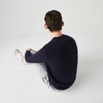 Lacoste Men's Crew Neck Organic Cotton Piqué Sweater