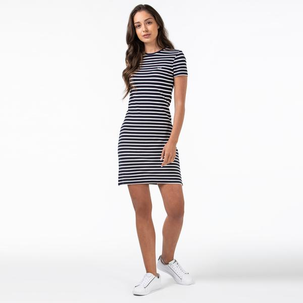 Lacoste Women's Round Neck Short Sleeve Dress