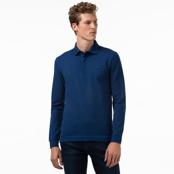 Lacoste Men's Long-sleeve Paris Polo Shirt Regular Fit Stretch Cotton Piqué