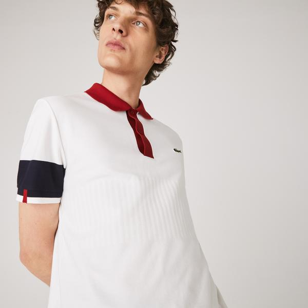 Lacoste Men's Made in France Regular Fit Two-Tone Organic Cotton Polo