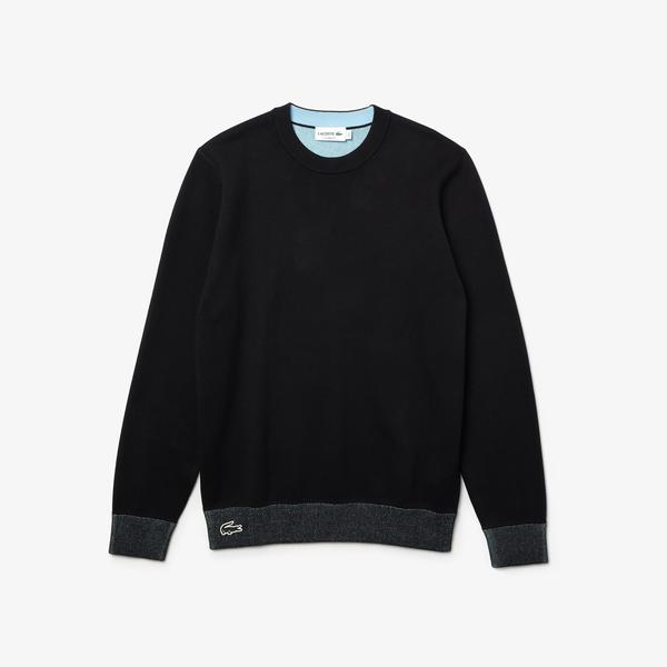 Lacoste Men's Reversible Crew Neck Contrast Sweater