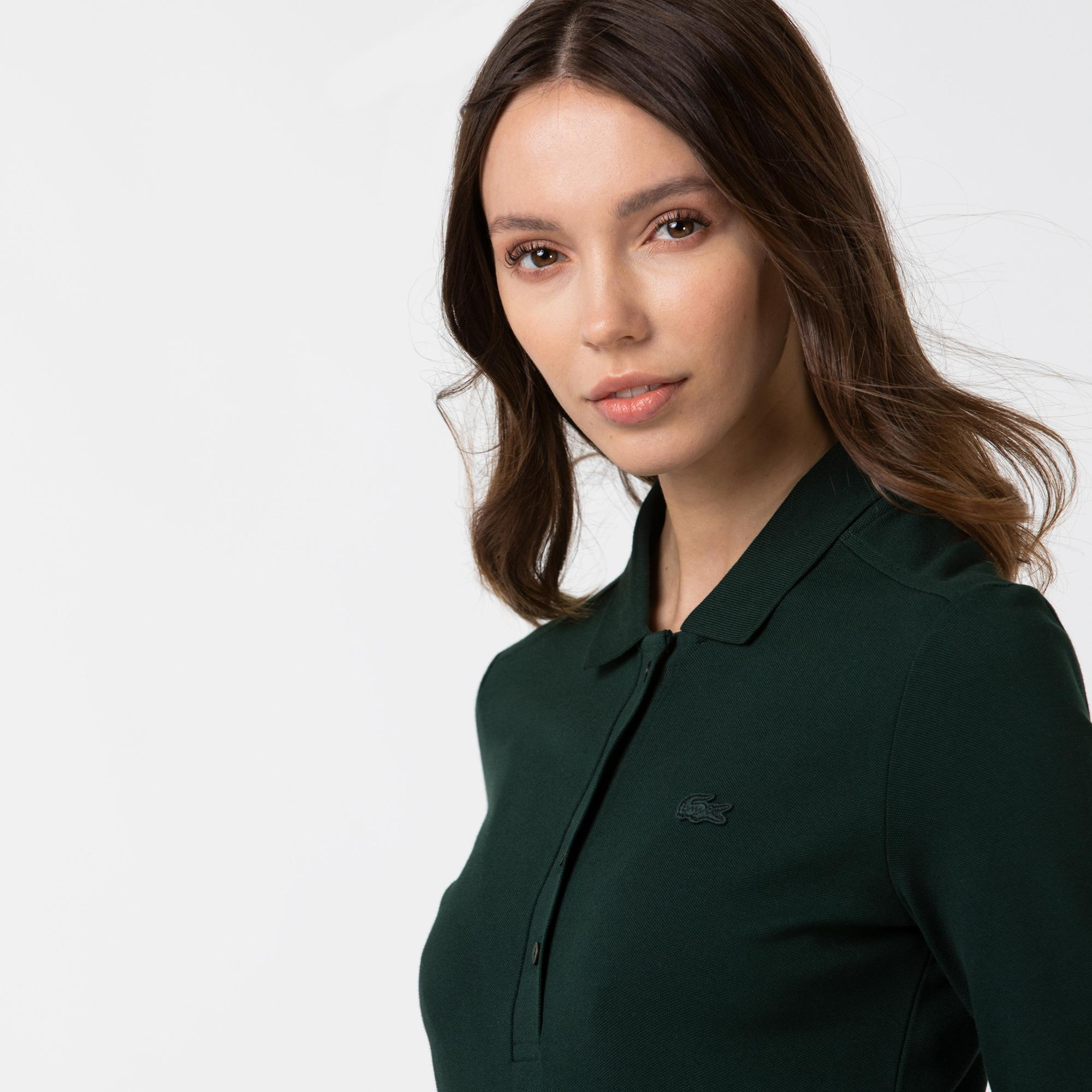 Lacoste Women's Slim Stretch Piqué Lacoste Polo Shirt