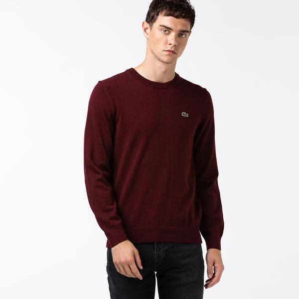 Lacoste Men's Organic Cotton Crew Neck Sweater