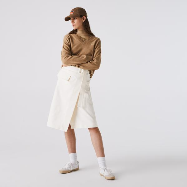 Lacoste Women's Cotton And Wool Wrap Skirt