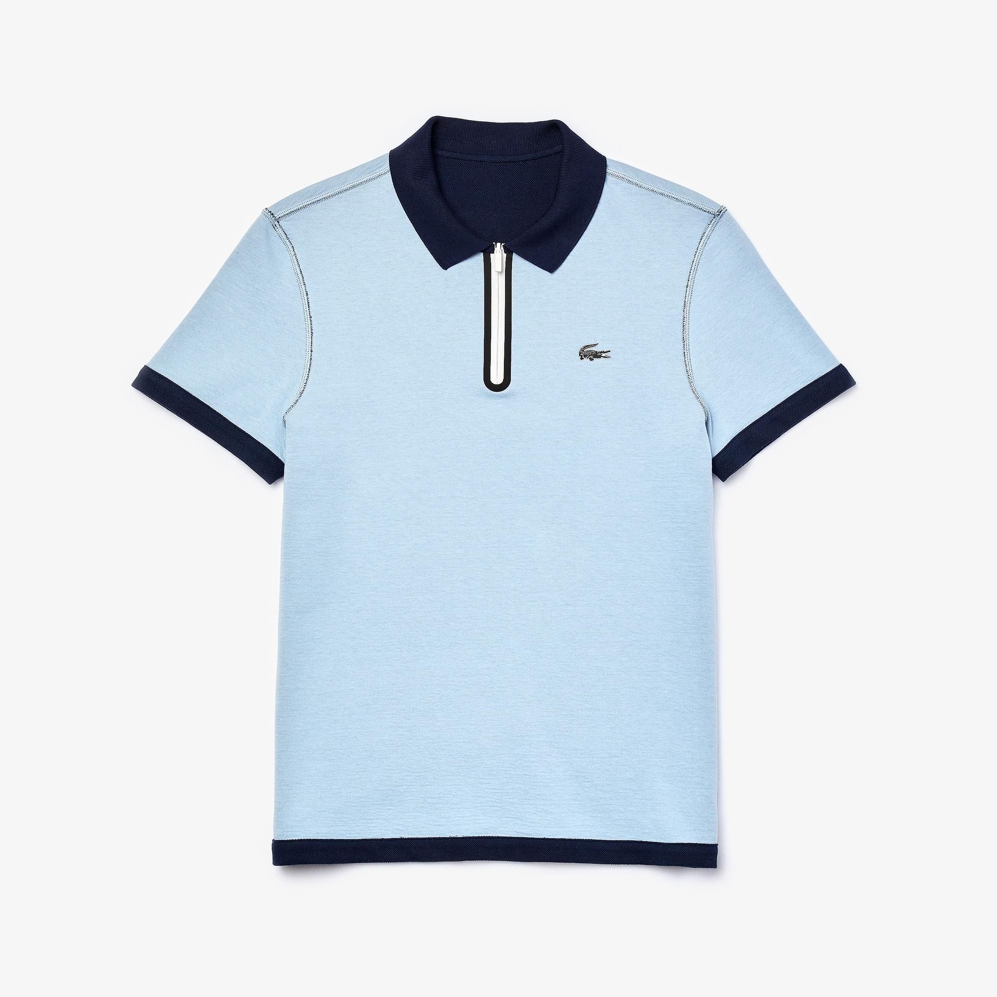 Lacoste Men's Zippered Collar Regular Fit Reversible Piqué Polo Shirt