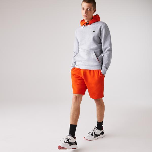 Lacoste Men's SPORT Hooded Contrast Fleece Sweatshirt