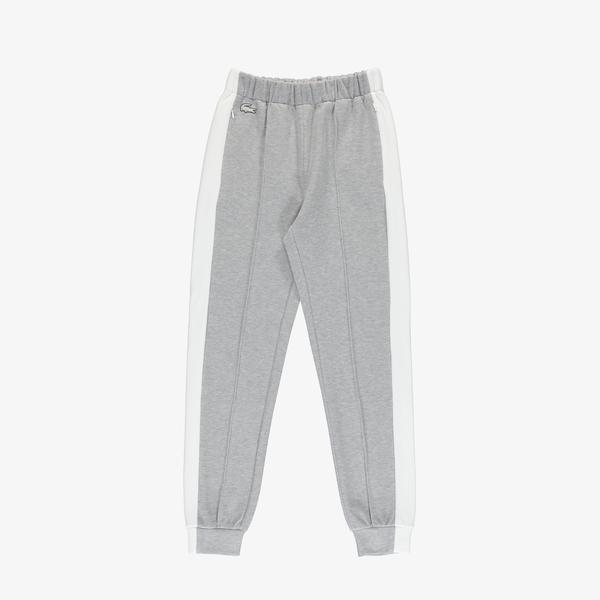 Lacoste Women's SPORT Contrast Band Piqué Jogging Pants