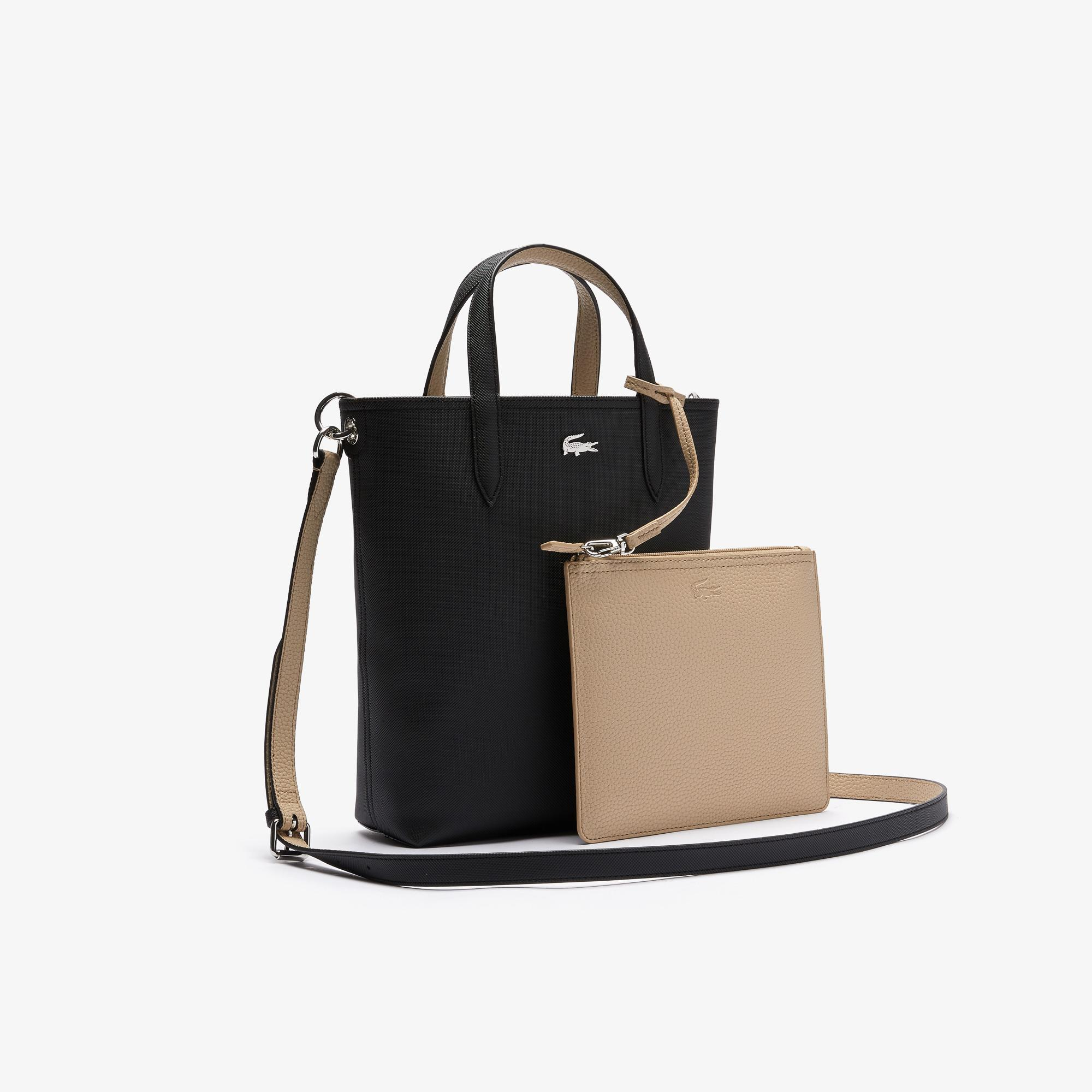 Lacoste Women's Anna Reversible Coated Canvas Tote Bag
