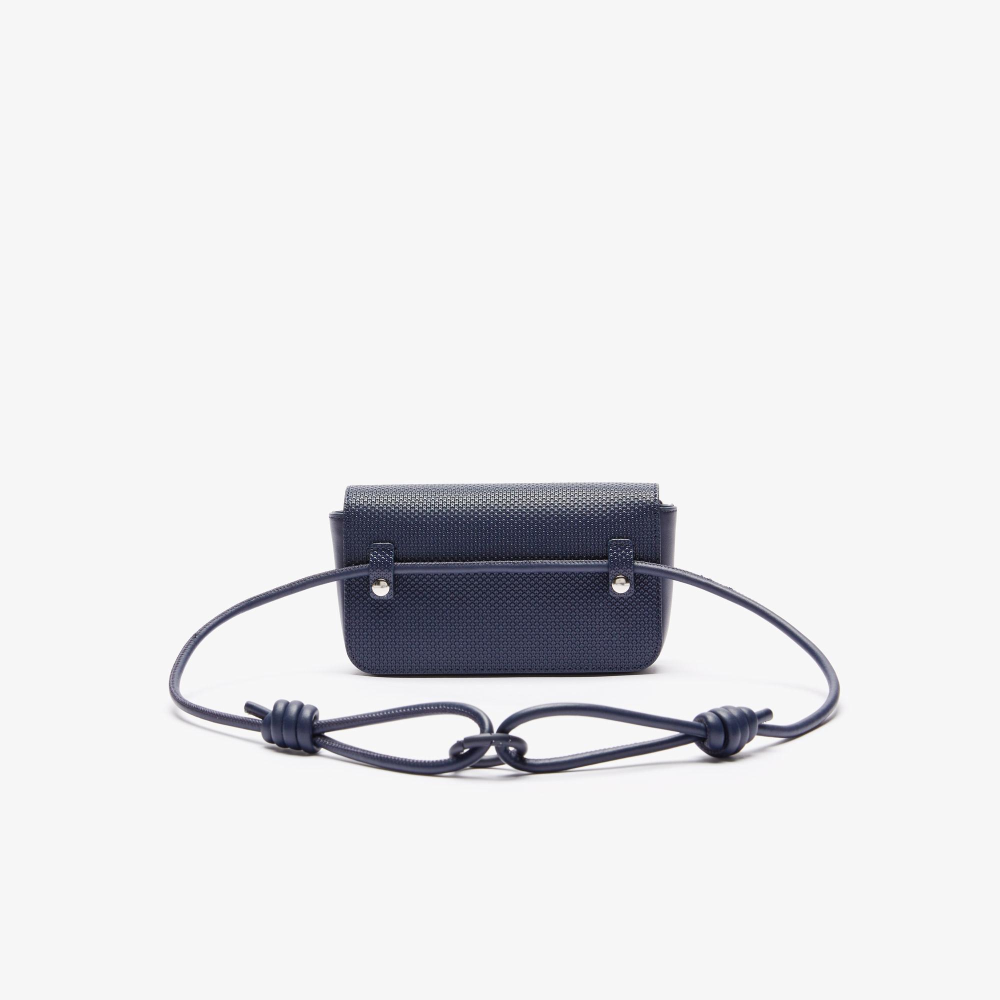 Lacoste Women's Chantaco Matte Piqué Leather Flap Belt Bag