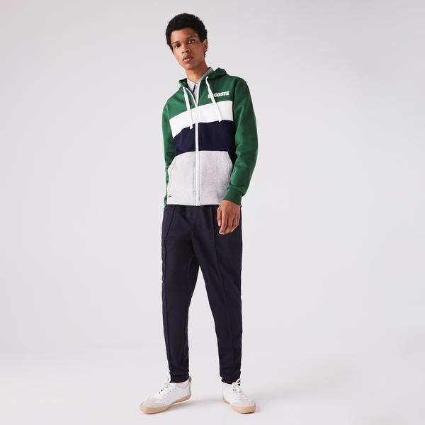 Lacoste Men's Sport Colourblock Fleece Zip Sweatshirt