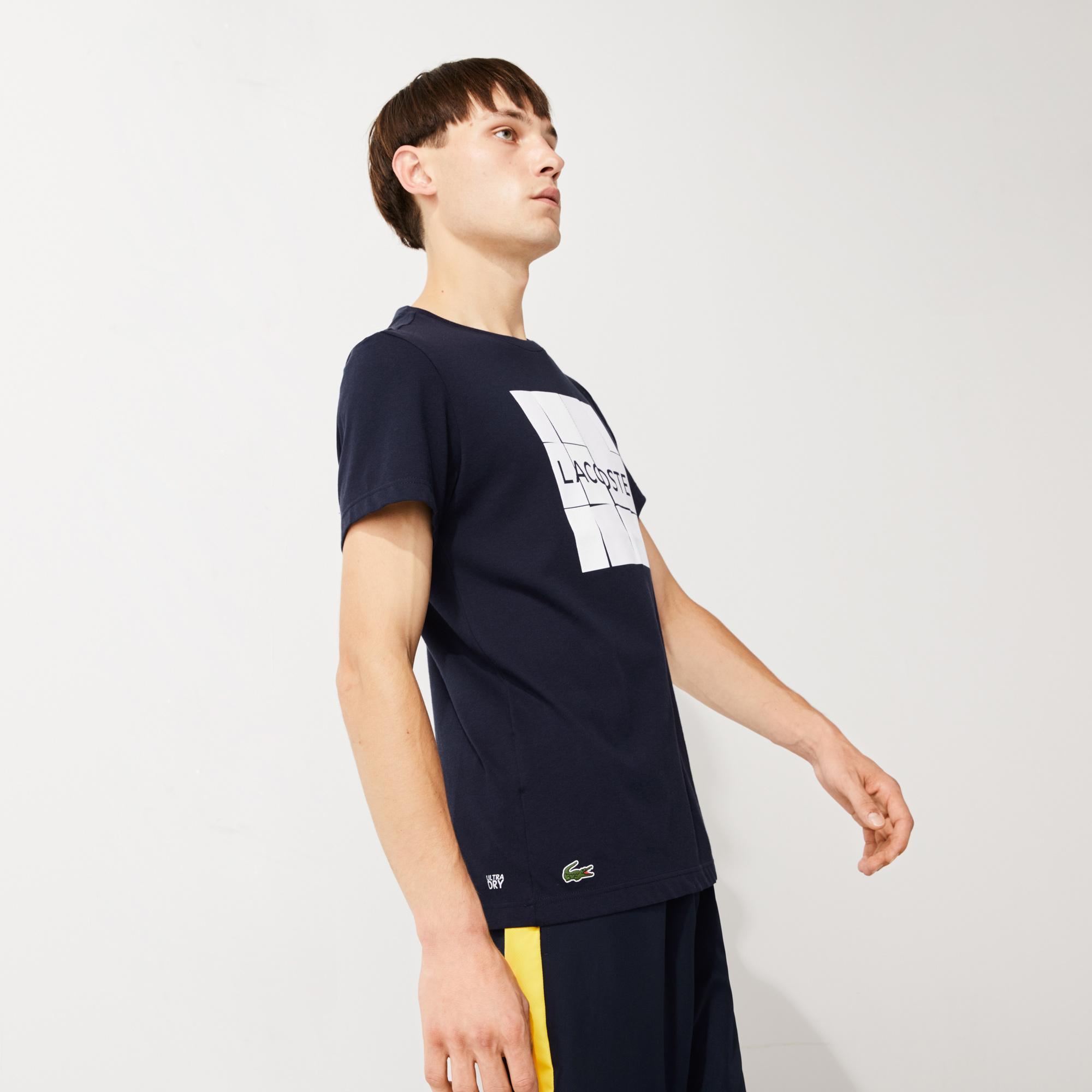 Lacoste Men's SPORT Graphic Print Breathable Jersey T-shirt