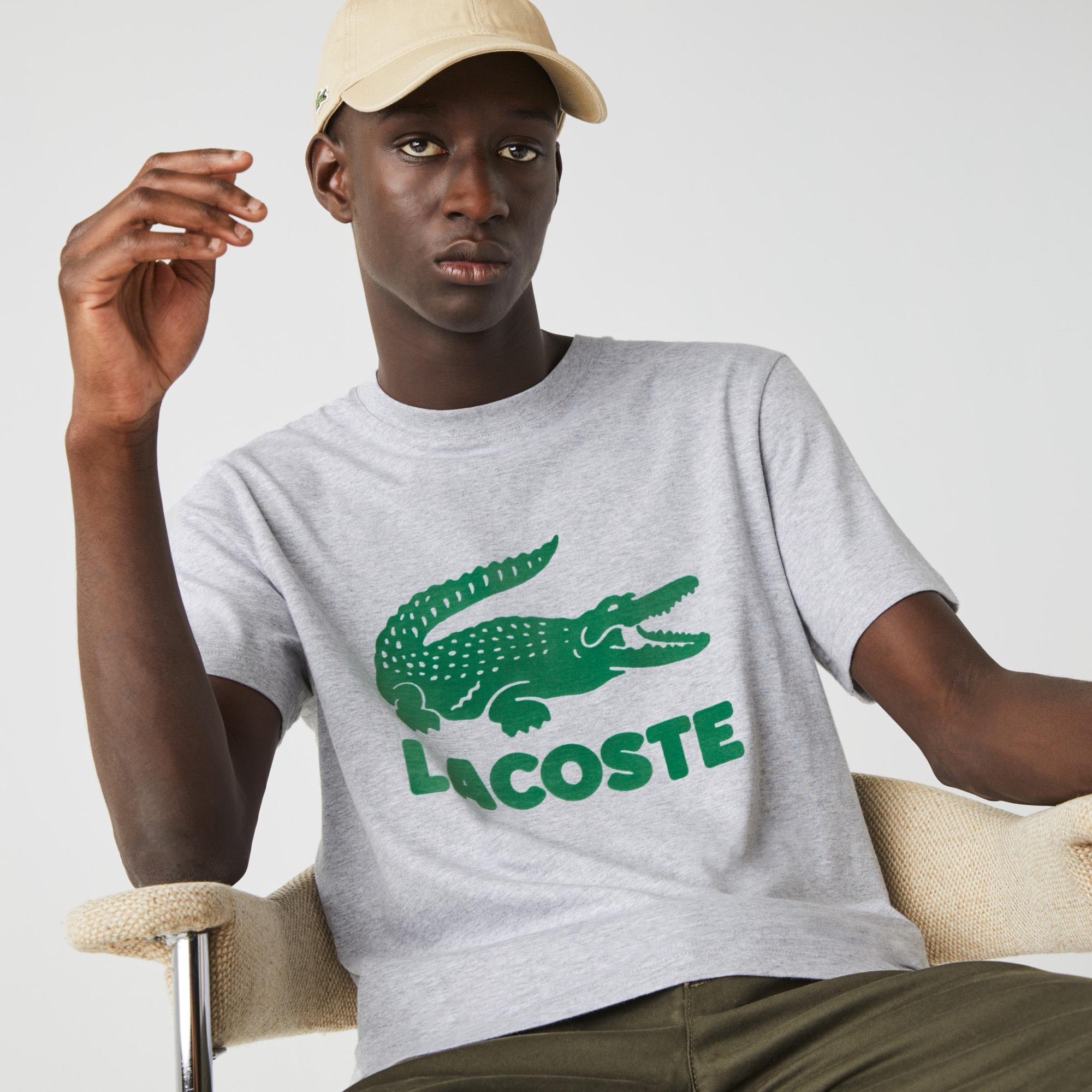 Lacoste Men's Printed Logo Cotton T-shirt