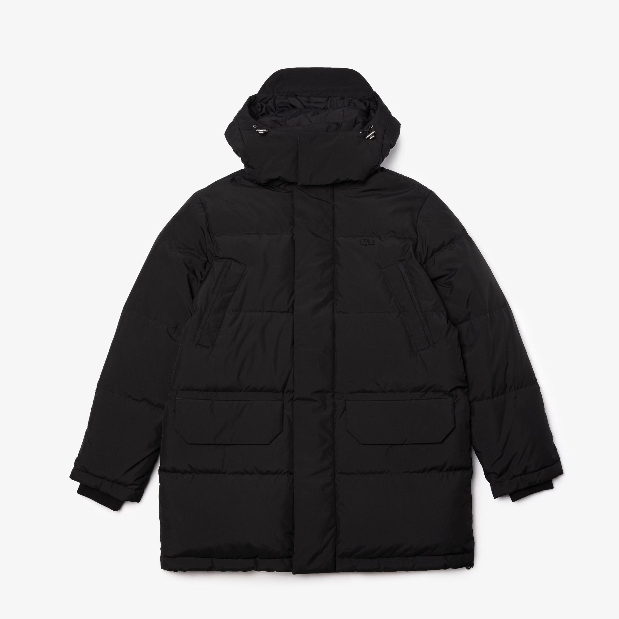 Lacoste Men's Detachable Hood Long Puffer Coat