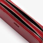 Lacoste Women's Chantaco Matte Piqué Leather Zip Smartphone Pouch