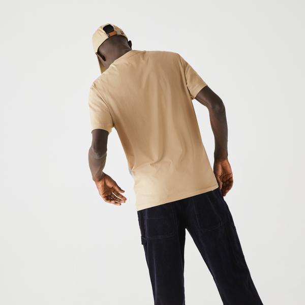 Lacoste Men's Colourblocked Panel Cotton T-Shirt