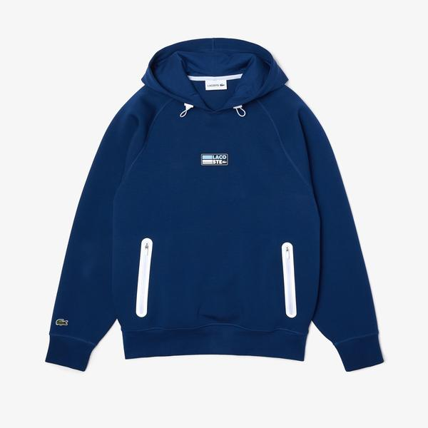 Lacoste Men's Zip Pocket Hooded Sweatshirt With Badge