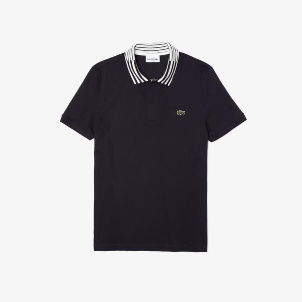 Lacoste Men's Slim Fit Stretch Piqué Heritage Polo