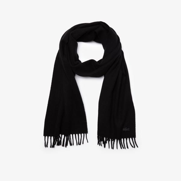 Lacoste Men's Fringed Rectangular Wool And Cashmere Blend Scarf
