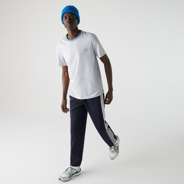 Lacoste Men's Crew Neck Two-Tone Thick Cotton T-shirt
