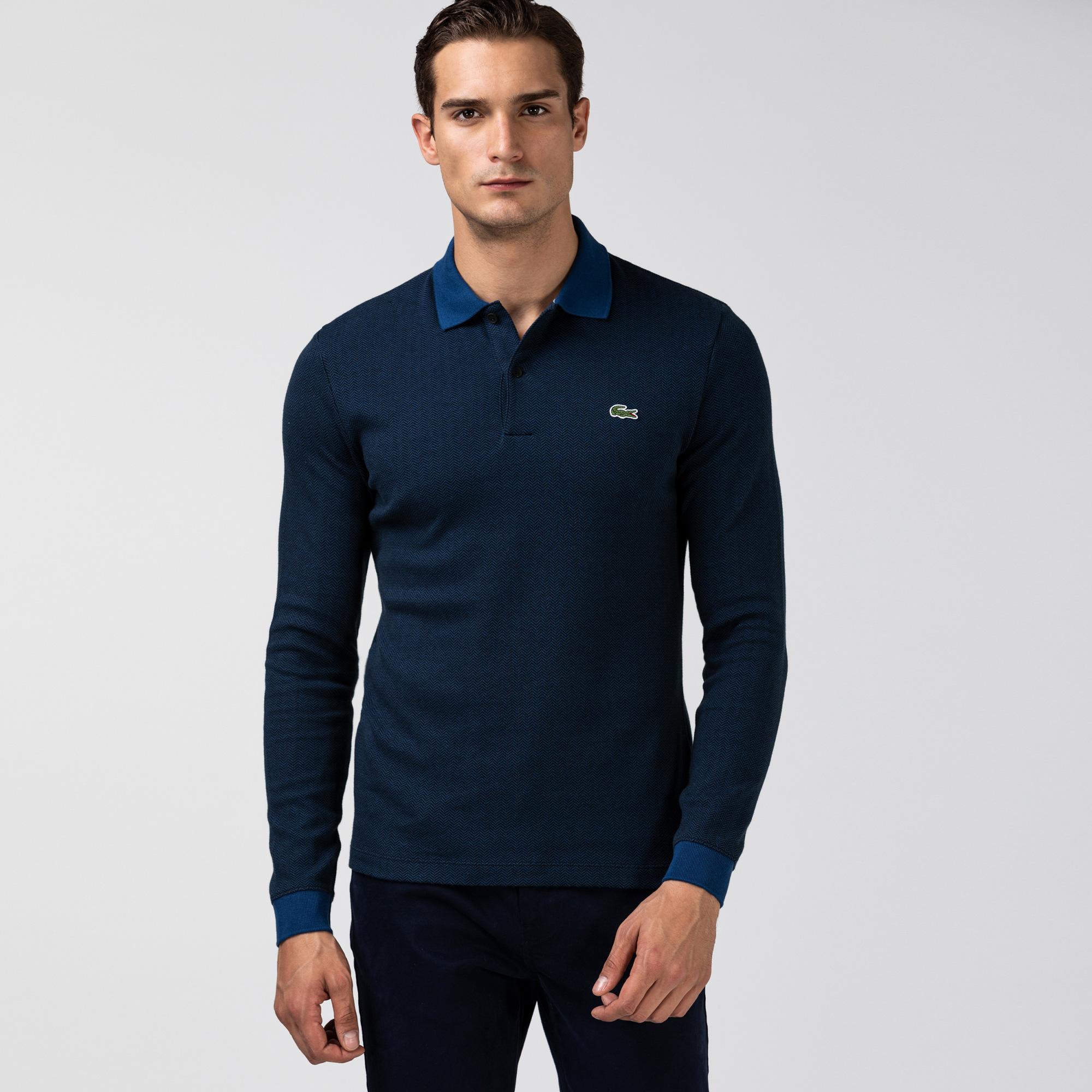 Lacoste Men's Regular Fit Herringbone Cotton Polo