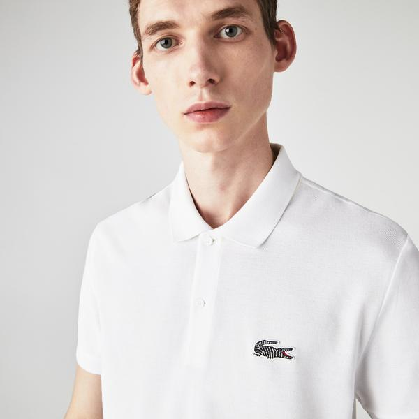 Lacoste Men's x National Geographic Organic Cotton Piqué Polo