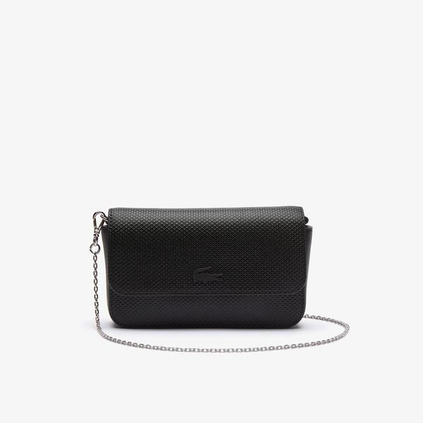 Lacoste Women's Chantaco Matte Piqué Leather Flap Belt Bag