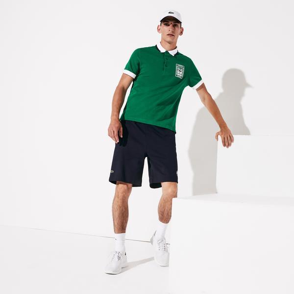 Lacoste Men's Sport Roland Garros Cotton Fleece Shorts