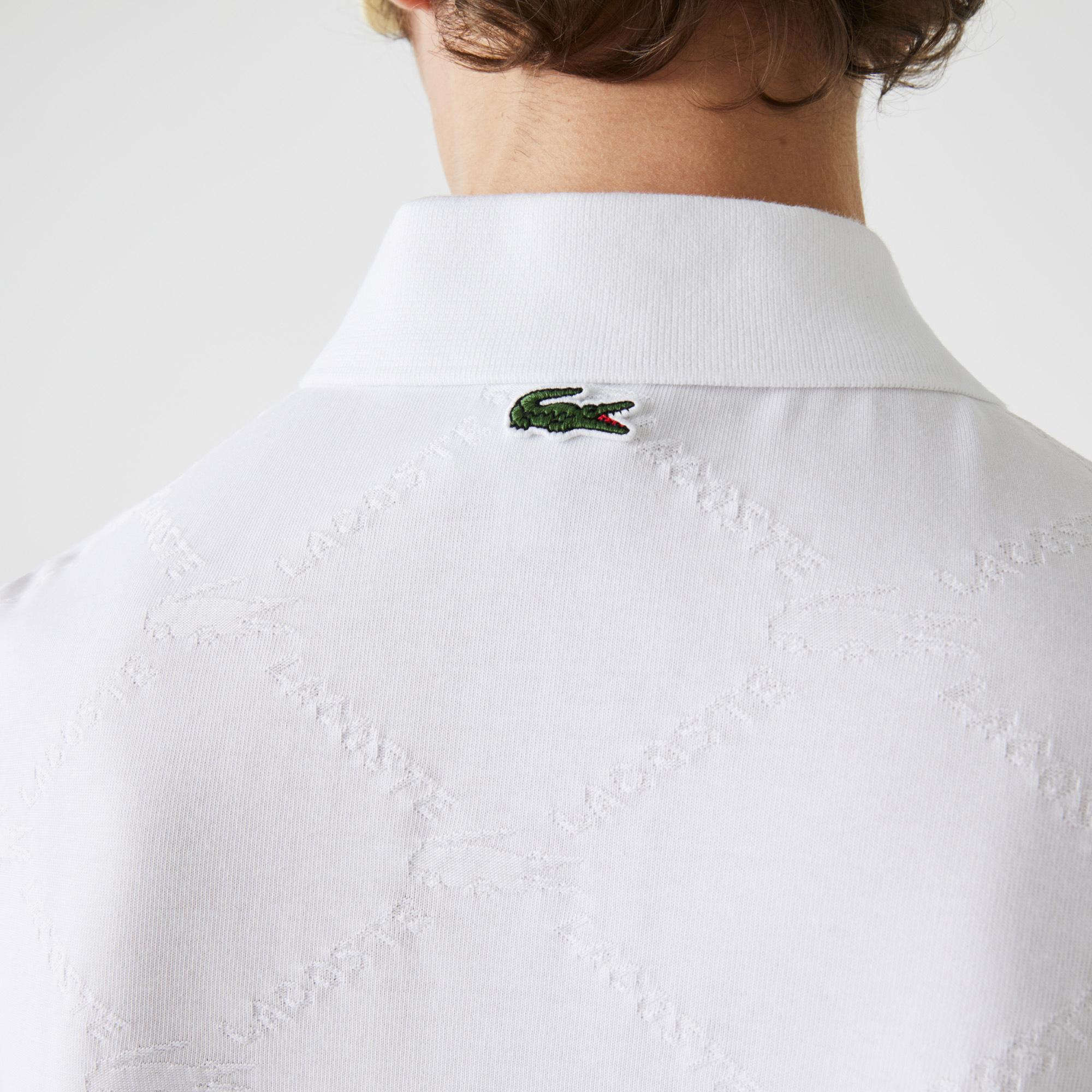 Lacoste Men's Lacoste LIVE Standard Fit Monogram Patterned Polo Shirt