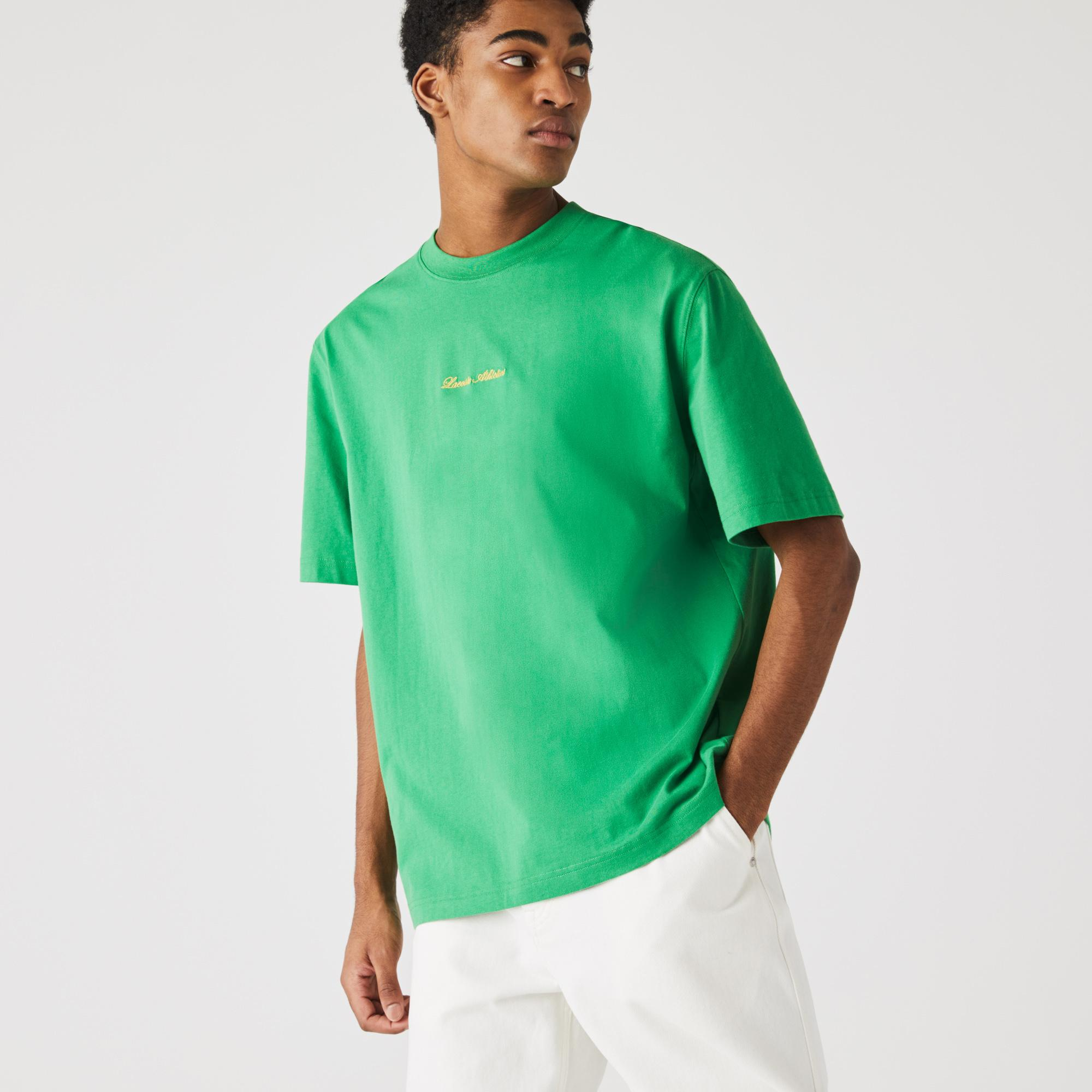 Lacoste Unisex LIVE Loose Fit Golden Embroidery Cotton T-shirt