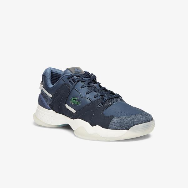 Lacoste Men's T-Point Leather and Suede Trainers