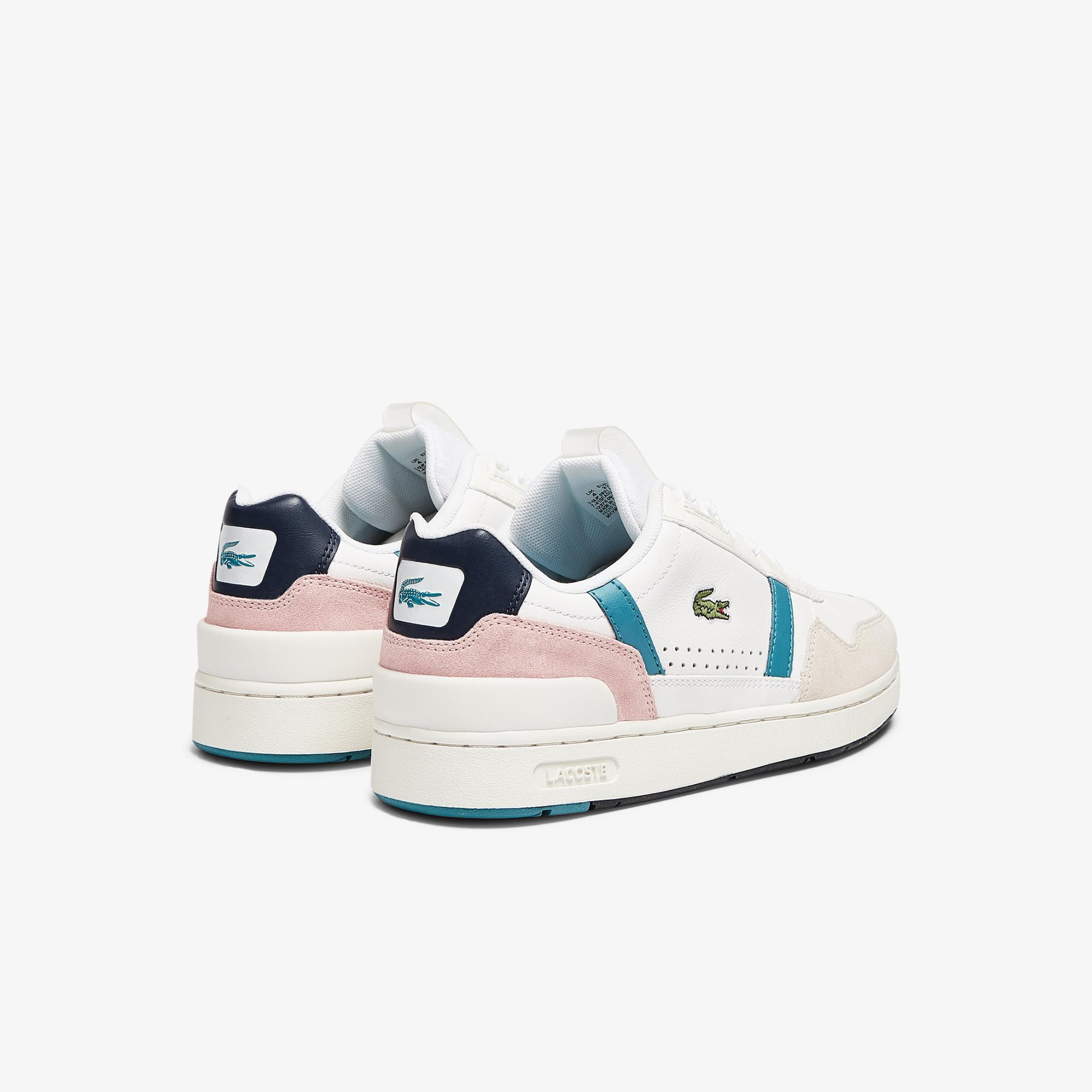 Lacoste Women's T-Clip Leather and Synthetic Trainers