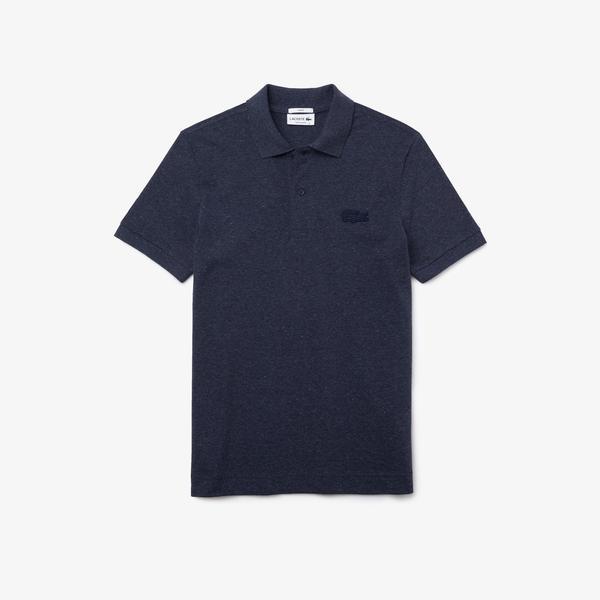 Lacoste Men's LOOP POLO Shirt Regular Fit Heathered Cotton Piqué