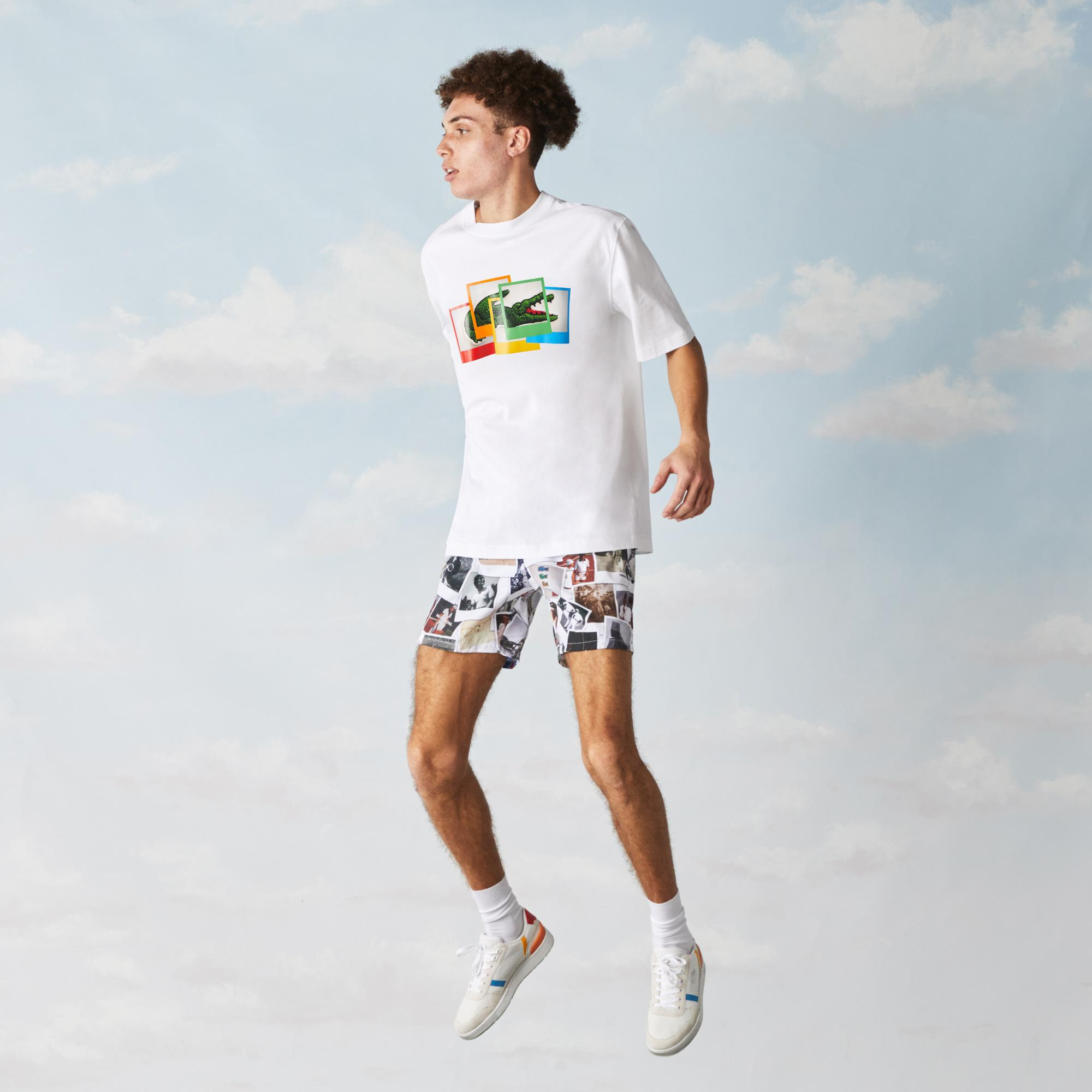 Lacoste LIVE x Polaroid Unisex Loose Fit Cotton T-shirt