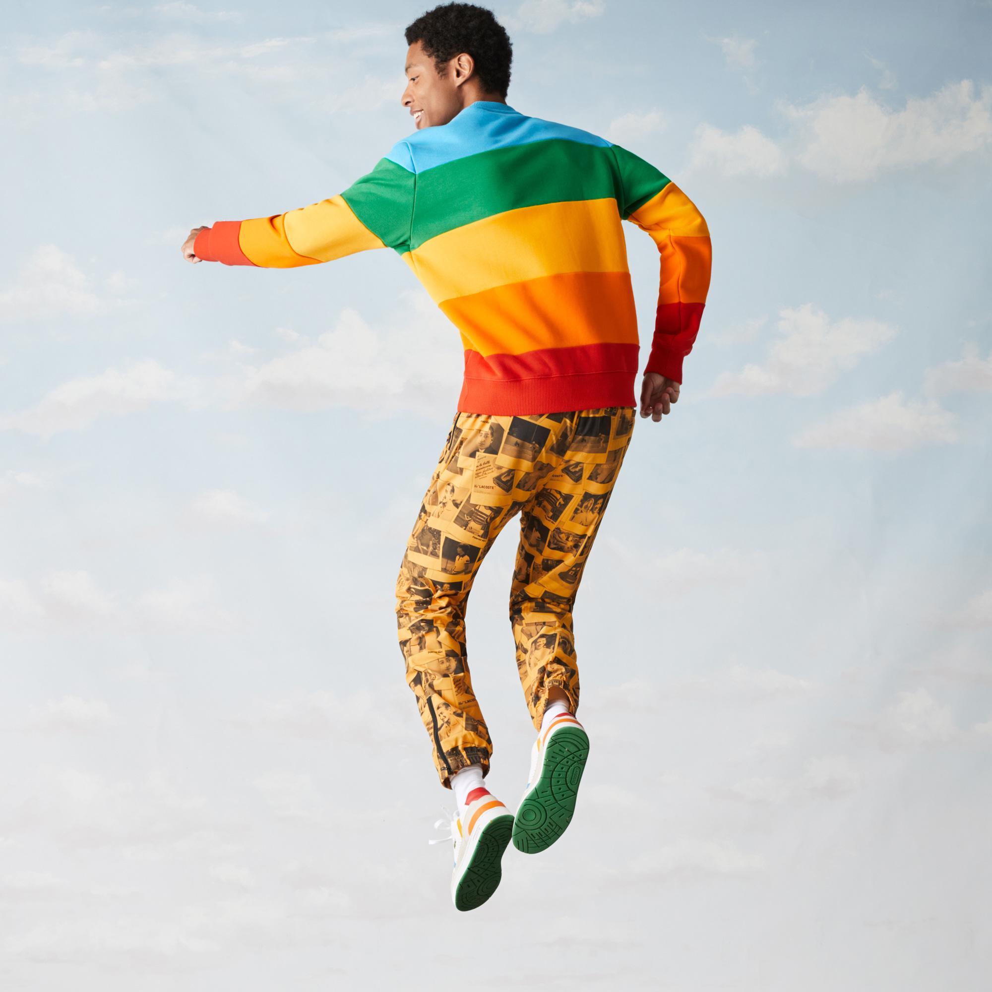 Lacoste x Polaroid Men's Colour Striped Fleece Sweatshirt