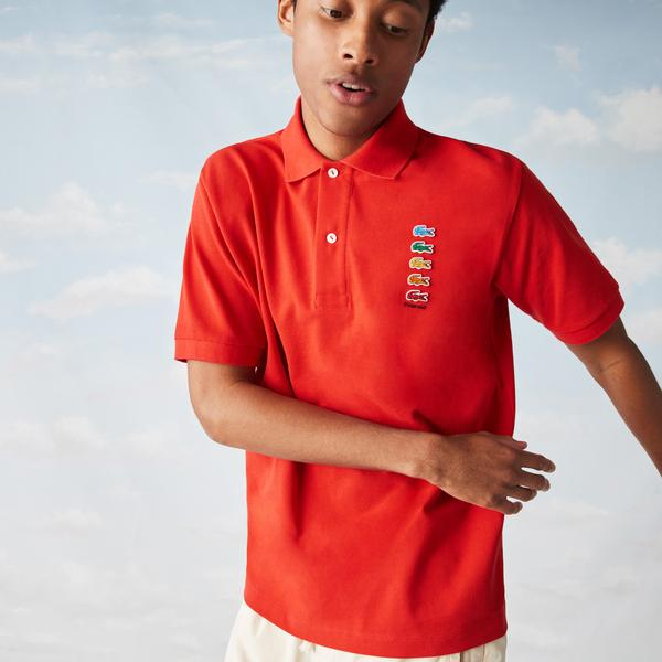 Lacoste x Polaroid Men's Coloured Crocodiles Classic Fit Polo Shirt
