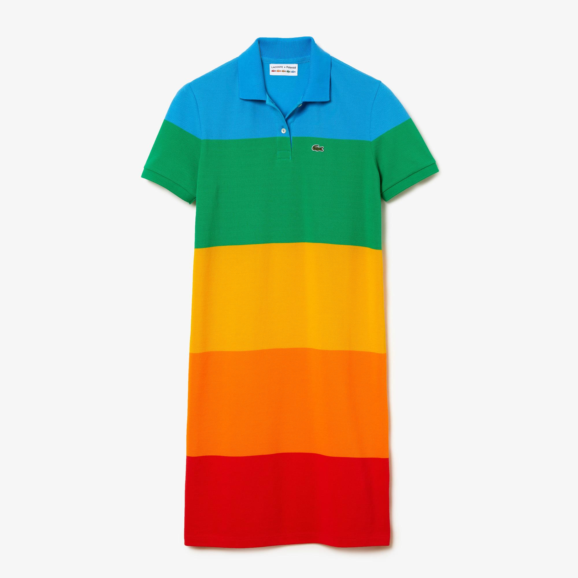 Lacoste x Polaroid Women's Striped Cotton Piqué Polo Dress