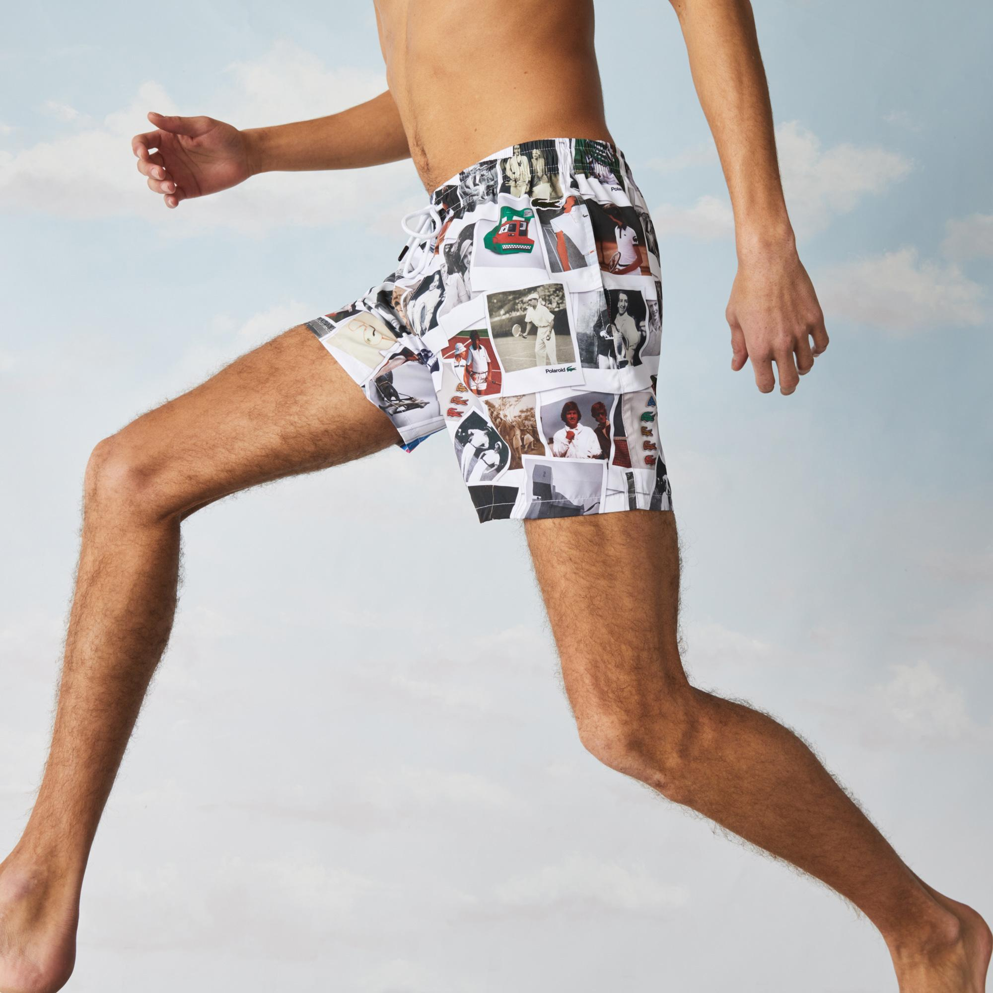 Lacoste LIVE x Polaroid Unisex Print Swimming Trunks