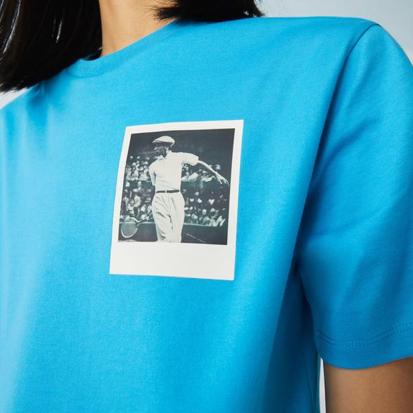 Lacoste x Polaroid Women's Crew Neck Print Cotton T-shirt