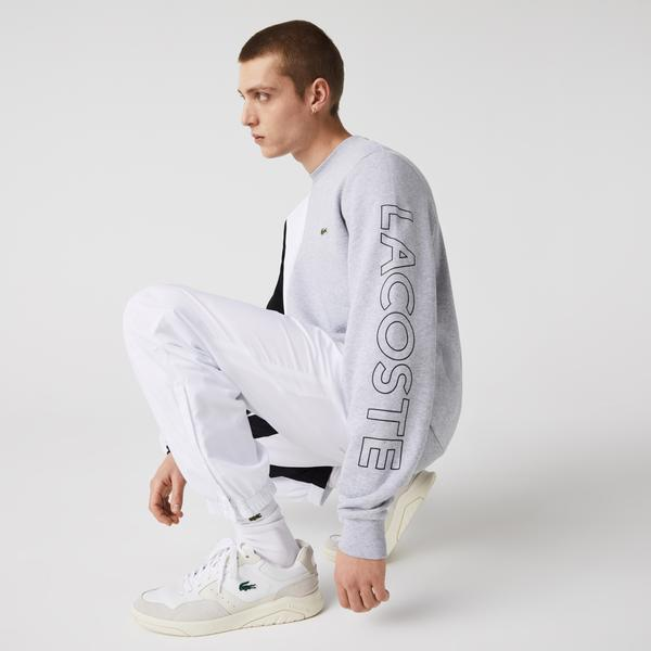 Lacoste Men's Crew Neck Lettered Colourblock Fleece Sweatshirt