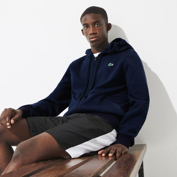 Lacoste SPORT Men's Hooded Mesh Panels Sweatshirt