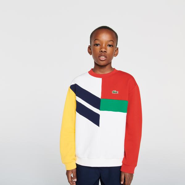 Lacoste Boys Graphic Cotton Fleece Sweatshirt