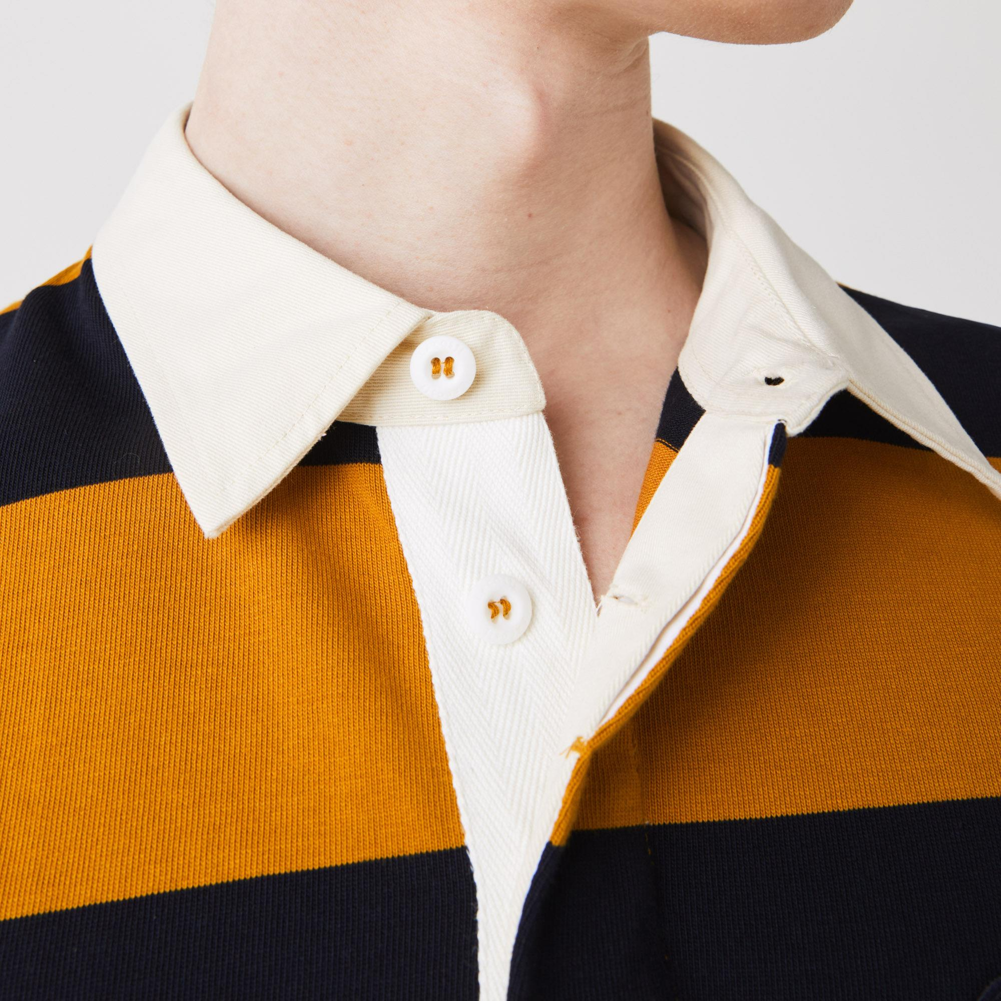 Lacoste Men's Striped Cotton Rugby Shirt