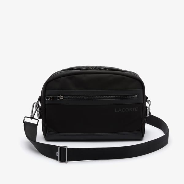 Lacoste Men's L On The Go Shoulder Strap Resistant Canvas Messenger Bag