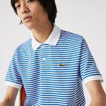 Lacoste Men's Classic Fit Striped Cotton Piqué Polo