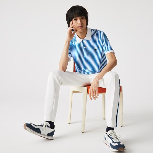 Lacoste Men's Classic Fit Striped Cotton Piqué Polo